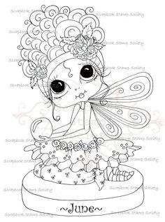 SOFORT-DOWNLOAD digitale Digi Stamps Fairy großes Auge großer Kopf Puppen Digi Geburt Stein friends Miss June IMG728 von Sherri Baldy