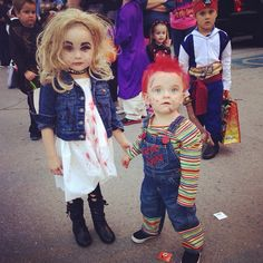 Chucky and Chuckyu0027s bride halloween costumes!  sc 1 st  Pinterest & chucky costumes for kids tiffany | Bride Of Chucky Costume For Kids ...