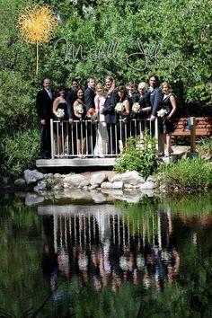 Wedding Party Reflection in Pond