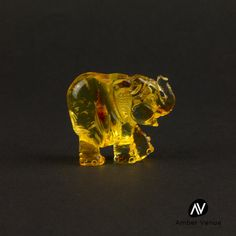 Natural Baltic Amber Honey Color Figurine by AmberVenueShop