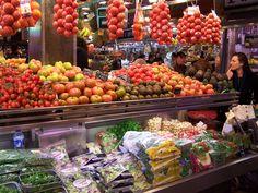 Market in Barcelona - just off La Rambla.