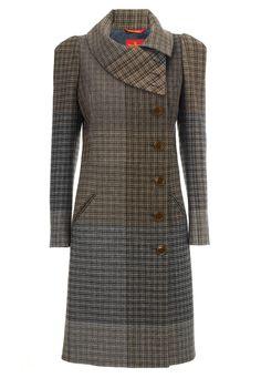 Foggy Tweed High Collar Coat | Vivienne Westwood
