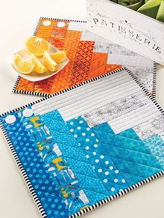 "Quilting - Rainy Day Place Mats - #EQ01014   16"" x 14"""