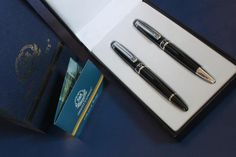 Venice Simplon Orient Express Set of Two Luxury Pens. In Original Presentation Case and Box. Vintage Gifts, Vintage Items, Simplon Orient Express, Luxury Pens, Blue Gift, Silver Bars, Ink Color, Thoughtful Gifts, Venice
