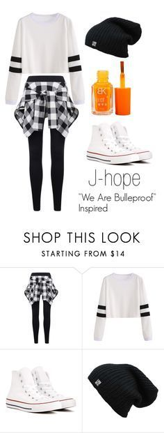 """J-hope ""We Are Bulletproof"" Inspired Outfit"" by mochimchimus on Polyvore featuring Converse and bts"