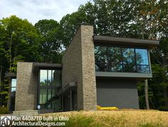 Architectural Designs Modern House Plan 44087TD nearing completion in Ohio. 4 beds and 3,400+ square feet. Ready when you are. Where do YOU want to build?