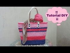 8 Nifty Notions for Crochet and Knitting! Diy Crochet Bag, Crotchet Bags, Crochet Fabric, Fabric Yarn, Knitted Bags, Knitting Videos, Crochet Videos, Crochet Handbags, Crochet Purses