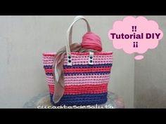 ▶ Cesta de colores a Trapillo ¡¡ TUTORIAL DIY !! Paso a Paso - YouTube