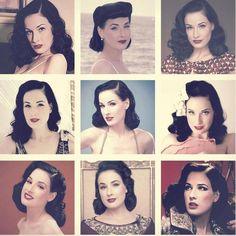Dita's beautiful vintage hair styling
