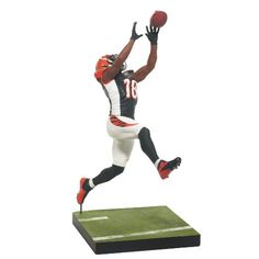 AJ Green is featured wearing his Cincinnati Bengals black home Jersey Sports Picks Debut Figure Jersey color may vary as rare Silver Level C...