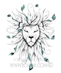 Poetic King ©  #art #illustration #draw #drawing #doodle #stretch #boho #bohostyle #bohemian #gypsy #gypsies #hippy #hippies #lion  #animal #animals #wild #wildlife #feather #feathers #cute #tattoo #ideatattoos #tattoos #tatouage
