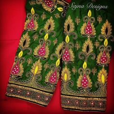 Call/message us at Embroidery Works, Embroidery Designs, Beaded Embroidery, Hand Embroidery, Wedding Saree Blouse Designs, Wedding Blouses, South Indian Blouse Designs, Bridal Sarees South Indian, Aari Work Blouse