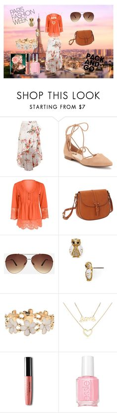 """""""Pack and Go: Paris Fashion Week"""" by holly32196-1 ❤ liked on Polyvore featuring Boohoo, Jennifer Lopez, Foley + Corinna, Ashley Stewart, Kate Spade, M&Co, Blue Nile, Essie, parisfashionweek and Packandgo"""