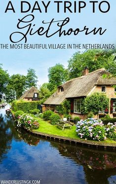 Planning your trip to the Netherlands? Tips for visiting the most beautiful village in the Netherlands, Giethoorn. This beautiful Dutch village has no roads. Read a complete travel guide with tips on how to take a day trip from Amsterdam to Giethoorn! Backpacking Europe, Europe Travel Tips, European Travel, Places To Travel, Travel Destinations, Travel Guide, Travel Goals, India Travel, Guide Amsterdam