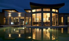 Custom Contemporary– Ortega Ridge Residence Barry Berkus Architects - Lighting by Trish Odenthal Amazing Architecture, Interior Architecture, Rhapsody In Blue, Modern Mansion, My Dream Home, Dream Homes, House Layouts, Pavilion, Luxury Homes