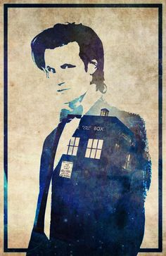 Doctor Who 11th Dr Matt Smith Tardis Poster by CultClassicPosters