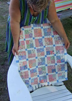 QuiltBee: Quilt Commando, quilt that Jane made for Hannah