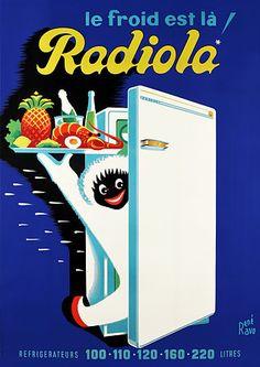 Radiola - années 50 - illustration de René Ravo