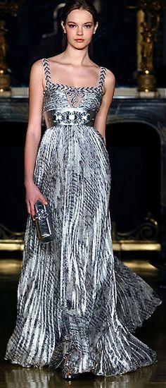 Zuhair Murad jean dress#2dayslook #maria257893 #jeansfashion ww.2dayslook.com