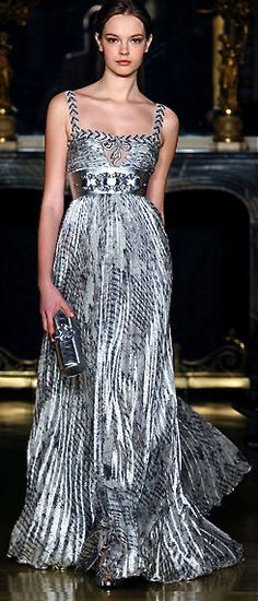 Zuhair Murad jean dress#2dayslook #maria257893 #jeansfashion ww.2dayslook.com