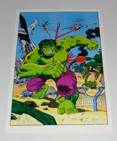 1970's Incredible Hulk poster pin-up by Marvel Comics (1978), with bronze age art by Herb Trimpe! 1000's more scarce Marvel and DC Comics posters and artwork at SUPERVATOR.COM