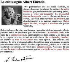 #Crisis, según #Einstein