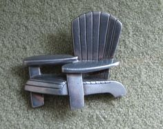Danforth Pewter Adirondack Chair Brooch Pewter by LazyYVintage