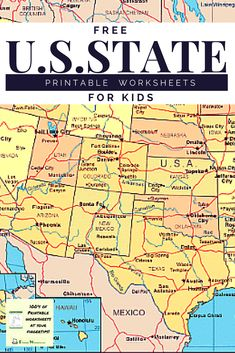 FREE States and Capitals Printables Homeschool Pinterest