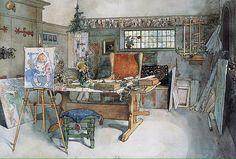 'The Studio' Carl Larsson, 1895 #art