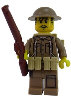 Custom LEGO Military Soldier Minifigure Model British European Theater Infantry