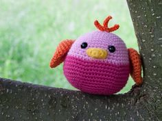 Amigurumi Chubby Bird - FREE Crochet Pattern / Tutorial (pattern in English here: http://88crafts.blogspot.se/2013/07/chubby-bird.html )