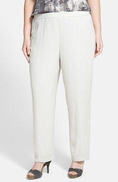 Eileen fisher linen pants plus size