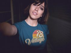 60bccd2ca Vintage 1978 Short-Sleeve T-Shirt. Midwife GiftMake Good Choices40th  Birthday GiftsRave WearBranded ...