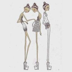 Fashion Sketches - chic fashion illustrations // Leandro Benites