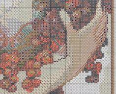 Borduurpatroon Kruissteek Mucha *Embroidery Cross Stitch Pattern ~Fruit (1897) 5/10~