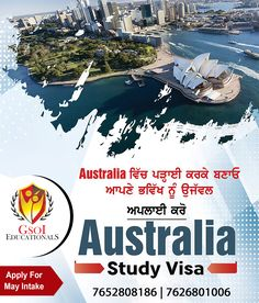Australia Visa, Phase 2, Study Abroad, Advertising Design, Flyer Template, University, How To Apply, Tours, Ads