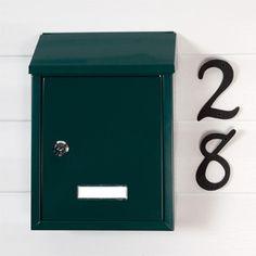 Smart Locking Wall Mount Mailbox Green Powdercoat | eBay