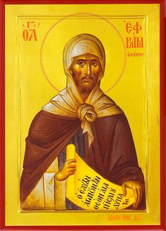 """June Saint Ephrem may Christ Jesus hear the prayers of persecuted Christians. We ask this in Jesus' holy name"" Religious Images, Religious Icons, Religious Art, Byzantine Icons, Byzantine Art, Sainte Cecile, Catholic Online, Catholic Saints, Roman Catholic"