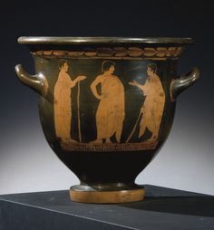 AN ATTIC RED-FIGURED BELL-KRATER ATTRIBUTED TO THE PAINTER OF THE LOUVRE CENTAUROMACHY - CIRCA 450 B.C.