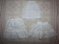 Three Antique Slips for Bisque Dolls Late 1800s
