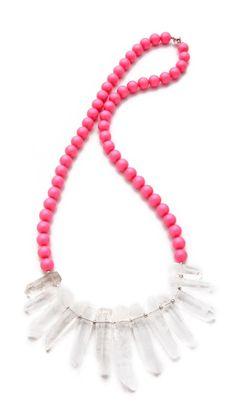 La Vie Bobo Large Neon Quartz Necklace