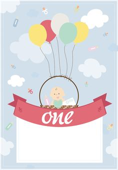Balloon Basket - Free Printable Birthday Invitation Template | Greetings Island