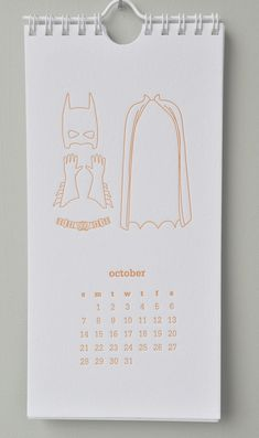 2012 Letterpress Calendar by ImpressedDesign on Etsy each month has different seasonal clothes to demonstrate each month