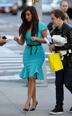 Blue dress kim kardashian 10