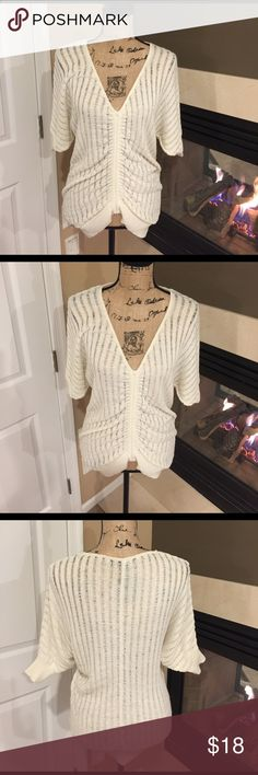 RAMPAGE  V-NECK Sweater  RAMPAGE  V-NECK Sweater...This awesome knitted sweater is preloved in great condition and can be worn with anything from jeans to leggings to a skirt!  Goes with everything Rampage Sweaters V-Necks