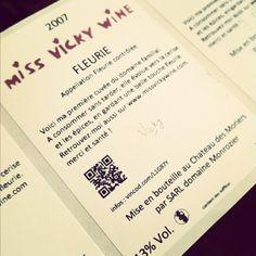 Emergency Wine Label Printing for the last bottles of Fleurie 2007. December 2011