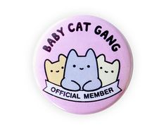 Because Cats 1.5 Pinback Button Pastel by thesparklecollective