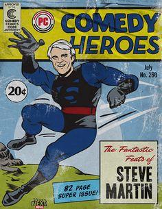 Comedy Comic Book Heroes - Steve Martin