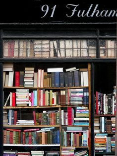 Bookshop Fulham Rd, London: August 2013