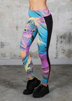 These Gem Print leggings will make you the most fabulous person at yoga class.#leggings #gemprint #activewear
